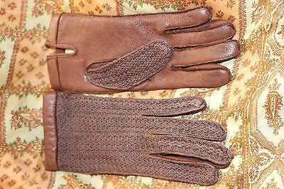 A Pair of Vintage Shave Pigskin and Cotton Gloves size 6 1/2