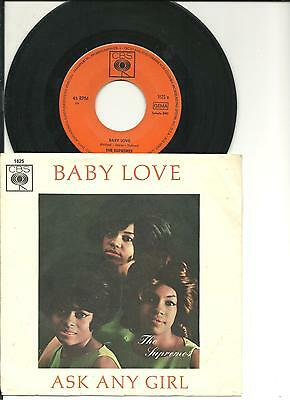 "7""___THE SUPREMES___Baby love / Ask any girl___( D / 1964 / PS )"