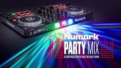 NUMARK PARTY MIX Midi Dj Controller Usb + Luci led + Virtual Dj NUOVO NEW