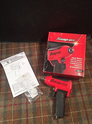 Snap On MG325 Red Black 3/8 Air Impact Wrench Gently Used W/ Box Manual