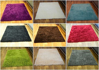 5cm Thick Pile Luxury Small X Large Modern Shaggy Area Rug Soft Carpet Rugs Mat