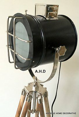 Collectible Nautical Search Home Spot Light Collectible Light Tripod Flor Lamp