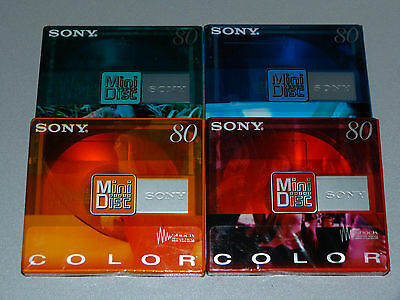 "4x Sony  MDW 80  Color -  Minidisc  -  MD  -  Minidisk   -  ""NEU""  in OVP !!!"