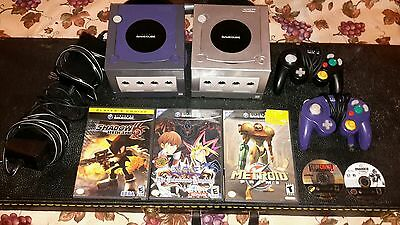 Mixed Nintendo Gamecube Lot 2 Consoles 5 Games Working Condition Need Cords