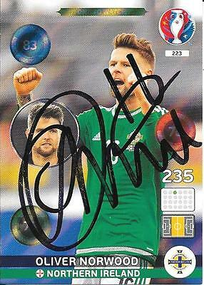 OLIVER NORWOOD NORTHERN IRELAND SIGNED PANINI ADRENALYN EURO 2016 - One to Watch