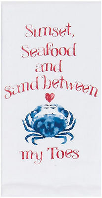 Kay Dee Designs Seafood Kitchen Crab Towel One Size