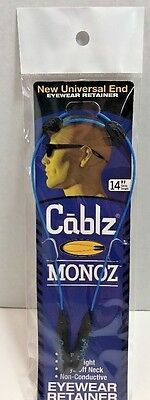 "CABLZ 14"" Blue Sunglasses Glasses Holder MONOZ Adjustable ZIPZ Eyewear Retainer"