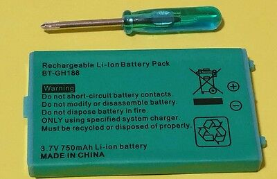 NEW* 750mAh *RECHARGEABLE BATTERY FOR *GAMEBOY ADVANCE SP GBA SP + TOOL *UK