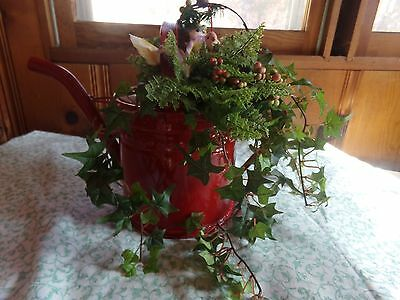 Antique Vintage Metal Watering Can Galvanized Useable