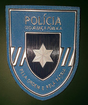 Portugal Police New Rubber Arm Patch 2016-7,5 Cm X 9,5 Cm-New Style