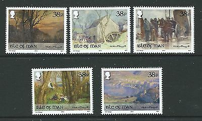Isle Of Man 2012 Paintings By William Hoggatt Set Of 5 Unmounted Mint, Mnh