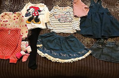 Baby Toddler Girls Age 9-12 Months Clothing Outfit Dress Skirts Jumpers Bundle