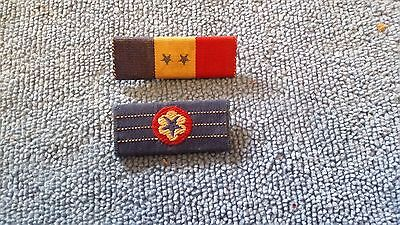 Lot Of 2 Wwii Son In Service Ribbon Bar Style Pins U.s. Army
