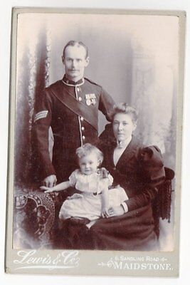 Cab Soldier India & Egypt Medals w Family by Lewis of Maidstone ? 97th Regt