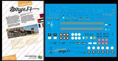 "[FFSMC Productions] Decals 1/48 ""Desert Mirage F1"""