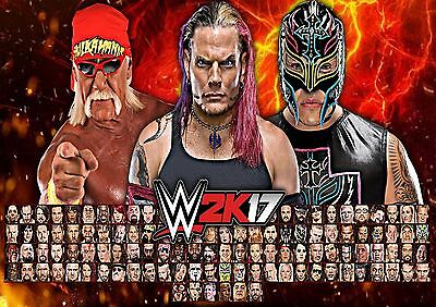 WWE - A4 Glossy Poster - Sports TV Film Movie Free Shipping #571