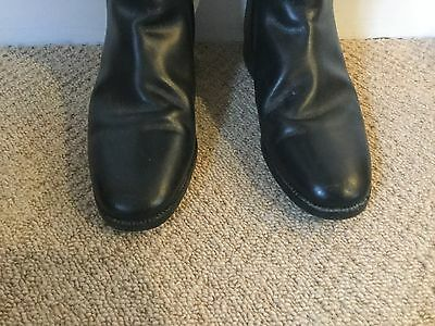 G.T.H. 1986 Black Leather Riding Boots, 8L