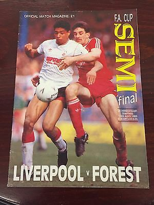 1989 F A CUP SEMI - FINAL : LIVERPOOL v NOTTINGHAM FOREST HILLSBOROUGH DISASTER