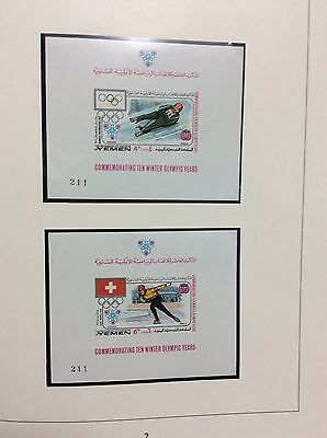 Grenoble Olympic Games 1968 Big  Sale most items start low Yemen 2 deluxe shts1