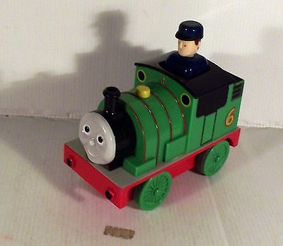 """6"""" Push Down And Go Thomas The Tank Engine Green Train Plastic Toy"""