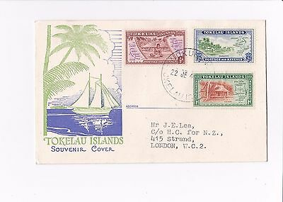 Tokelau Islands - 1948 - souvenir cover - 17/101