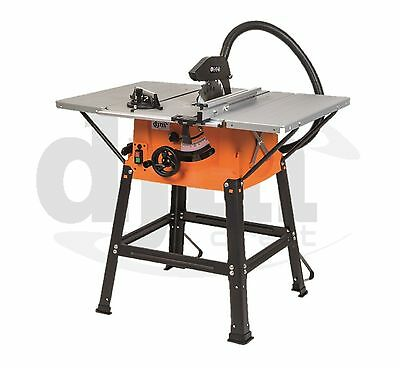 """DJM DIY 10"""" 254mm Woodworking Table Work Saw With Stand Extensions 240v"""