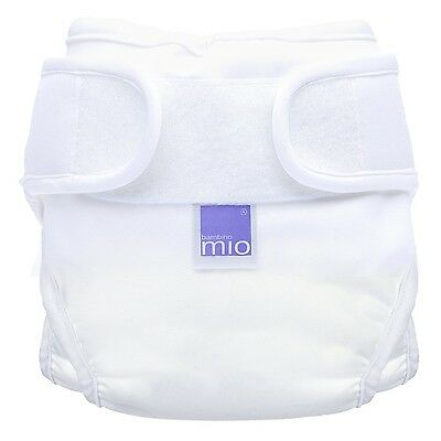 Bambino Mio Miosoft Nappy Cover White Size 1 (2pack)