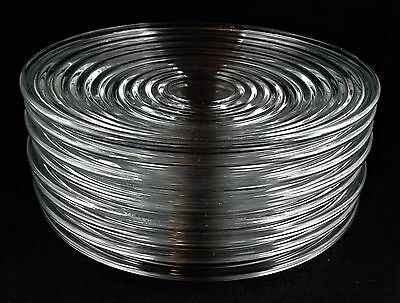 8 Anchor Hocking Park Avenue Clear Glass Luncheon Plates