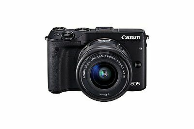 Canon EOS-M3 Compact System Camera EF-M 15-45 mm f/3.5-6.3 IS STM Lens - Black