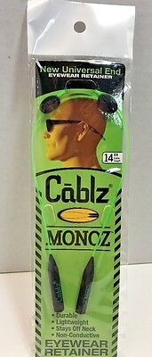 "CABLZ 14"" Green Sunglasses Glasses Holder MONOZ Adjustable ZIPZ Eyewear Retainer"