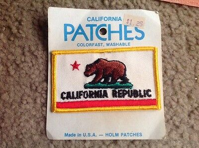 CALIFORNIA Republic Souvenir Vintage Patch Travel State Flag CA Holmes Patches
