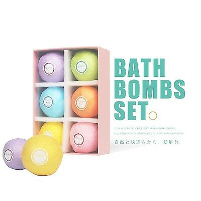 Bath Bombs Gift Set6 Ultra Lush Essential Oil Handmade Spa Bomb Fizzies Use w...