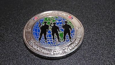 Challenge coin Us Army coin military Team Hickham