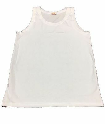 CAGI 1925 tank top man wide shoulder white mod 1170 92% cotone MADE IN ITALY