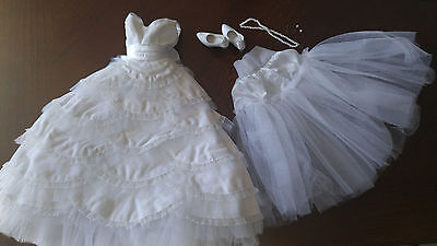 """Tonner White Dress - 'patricia Holt' - Tiered White Scallop  16"""" Doll Fashion"""