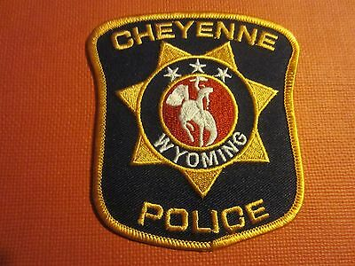Collectible Wyoming Police Patch Cheyenne,Capital City, New