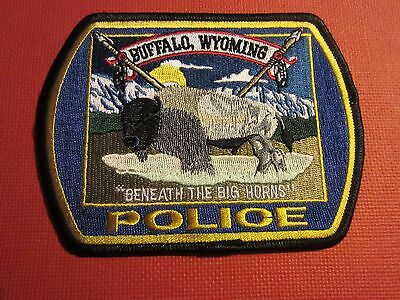 Collectible Wyoming Police Patch Buffalo New
