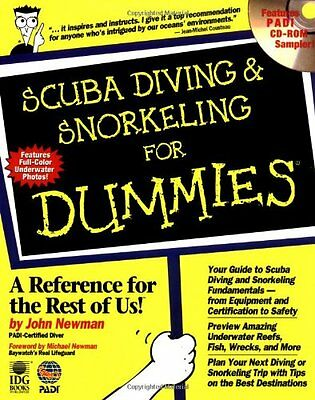 Scuba Diving and Snorkeling For Dummies 376 Pg BOOK and CD-ROM New!  Instruction
