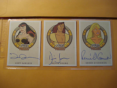 Xena and Hercules The Animated Adventures 29 Card Autograph set