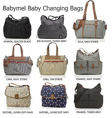 Babymel Baby Changing Nappy/Diaper Bags with Changing Mat (Various Designs)