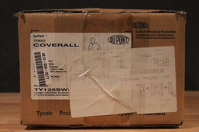 (25) Dupont TY125S White Tyvek Disposable Coverall w Elastic Wrists / Ankles 2XL