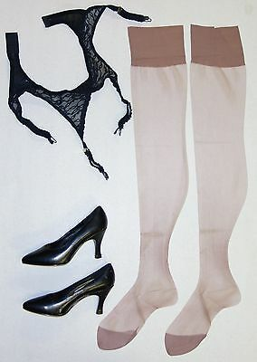 Vintage Nylon Stockings Micro Mesh Size 9 1/2-30 Reliable Hosiery Woolworth's