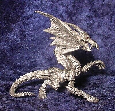Pewter Abyzarran DRAGON with Red Crystal Eyes