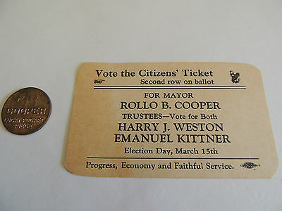 Old Political items for Cooper 1 from Ohio 1 from ?