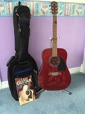 Acoustic Guitar with Stand and Guitar Case