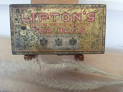 Old Rustic Sir Thomas J. Lipton's Tea Tin