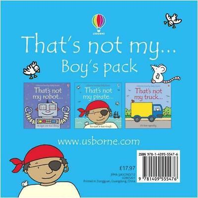 NEW That's Not My Boys Set By Fiona Watt Board Book Free Shipping