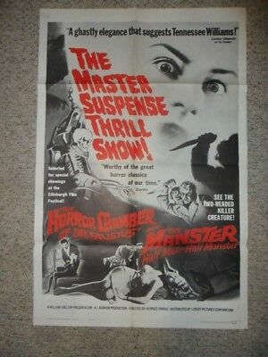 Doctor Faustus/The Manster ORIG 1962 1-SHEET POSTER Horror/Monster DOUBLE FEATUR
