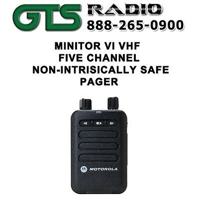 MOTOROLA MINITOR VI (6) VHF 5 CHANNELSTORED VOICE EMS & FIRE PAGER 143-174 MHz