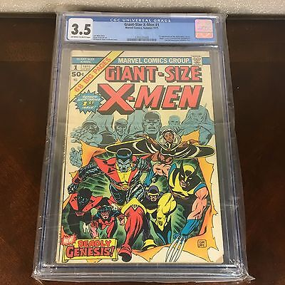 Giant Size X-Men 1 1975 Uncanny CGC Graded 3.5 1st first Appearance 2n Wolverine